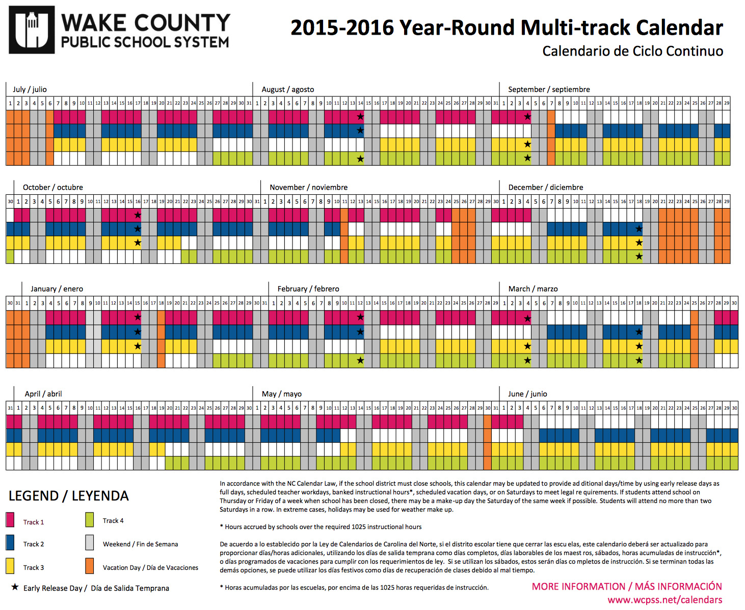 Year Round School Calendar Example : All about year round school tulip and snowflake
