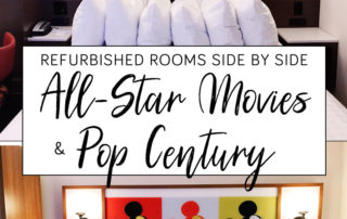 Disney World Refurbished Rooms at All-Star Movies and Pop Century