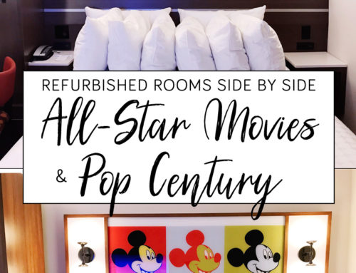Disney's Pop Century and All Star Movies Refurbished Rooms side by side