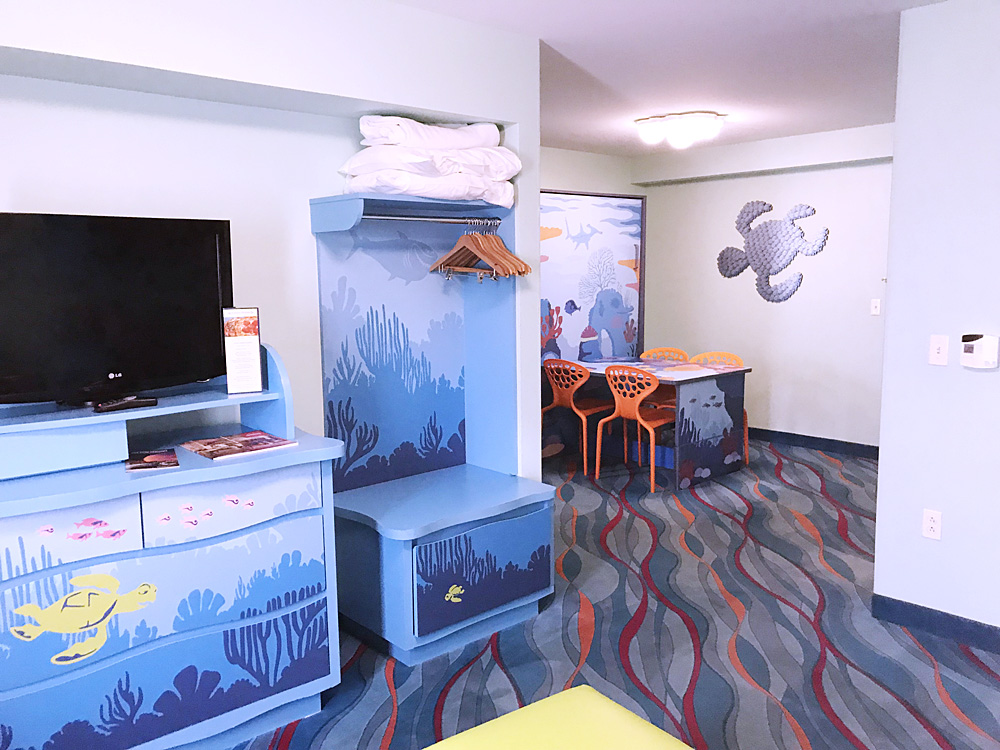 Disney's Art of Animation Resort Finding Nemo living room