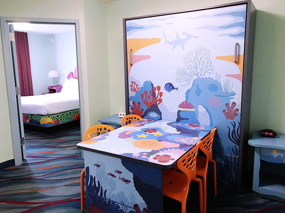 Disney's Art of Animation Resort Finding Nemo dining table
