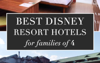 Best Disney Resort Hotels for families of 4