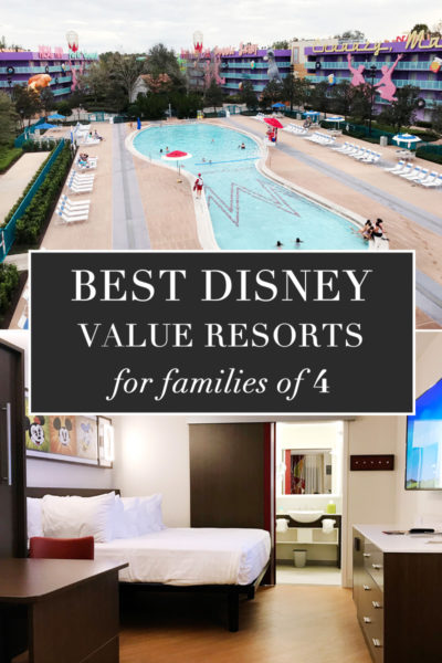 Best Disney Value Resorts for families of 4