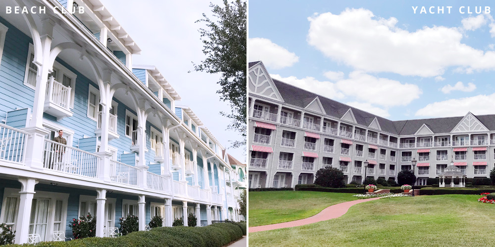 Disney's Beach and Yacht Club balconies