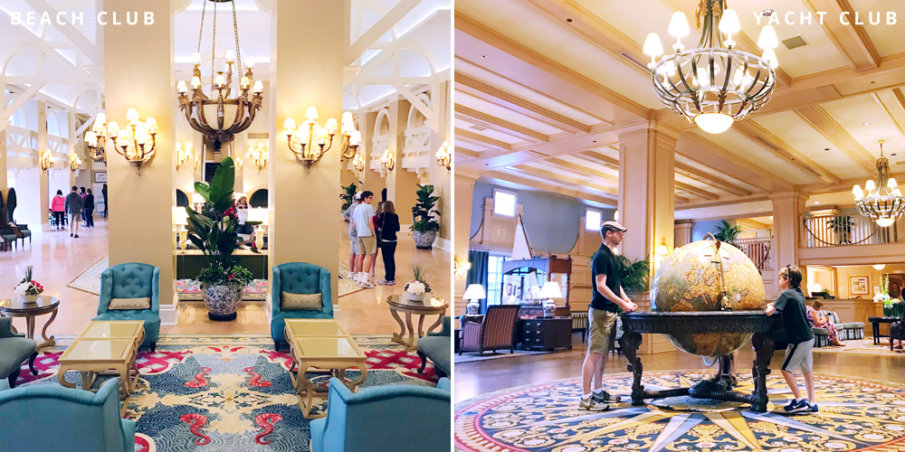 Disney's Beach and Yacht Club lobbies