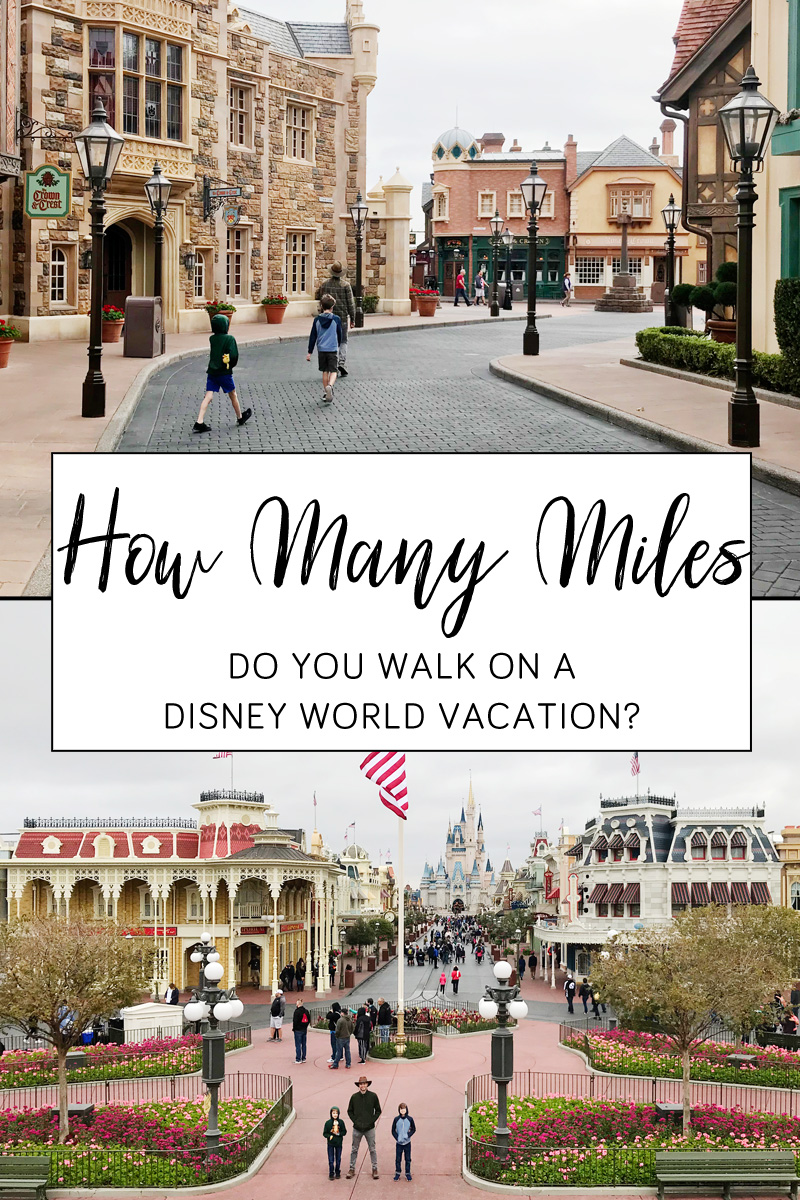 How many miles do you walk on a Disney World vacation?