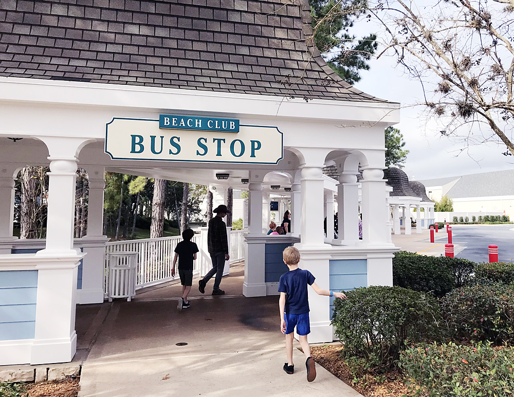 Disney World Beach Club bus stop