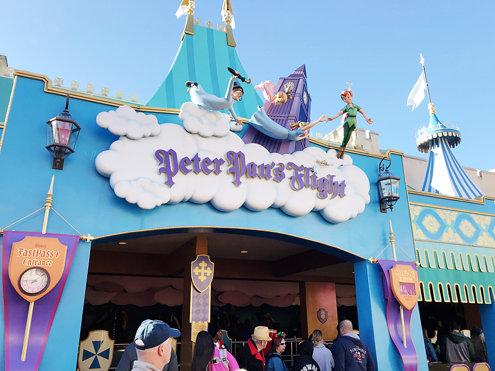 Rope drop Peter Pan's Flight