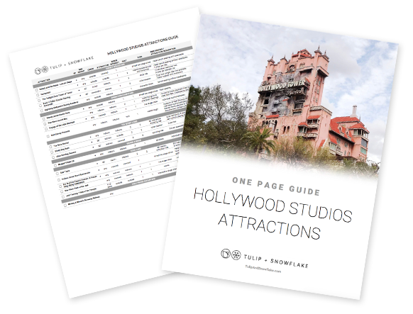 Disney World Hollywood Studios attractions guide