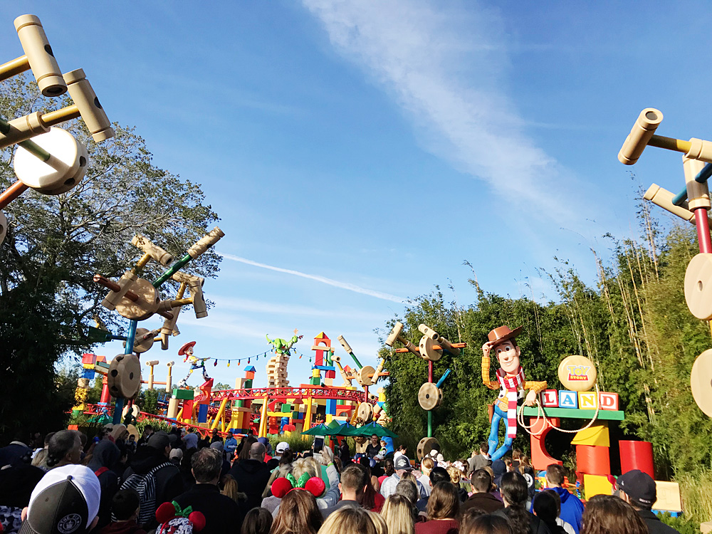 Toy Story Land rope drop