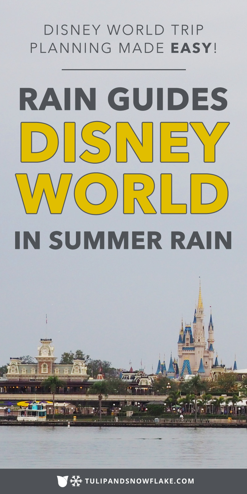 Disney World in summer rain