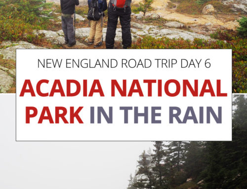 New England Road Trip day 6 – Acadia National Park in the Rain