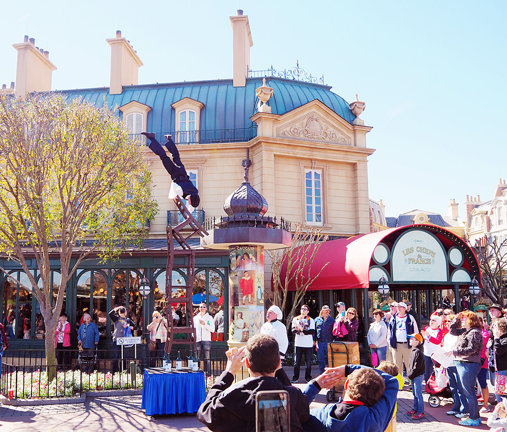 Epcot France entertainment