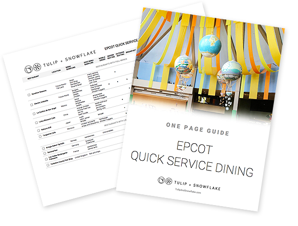 Disney World Epcot quick service restaurants guide