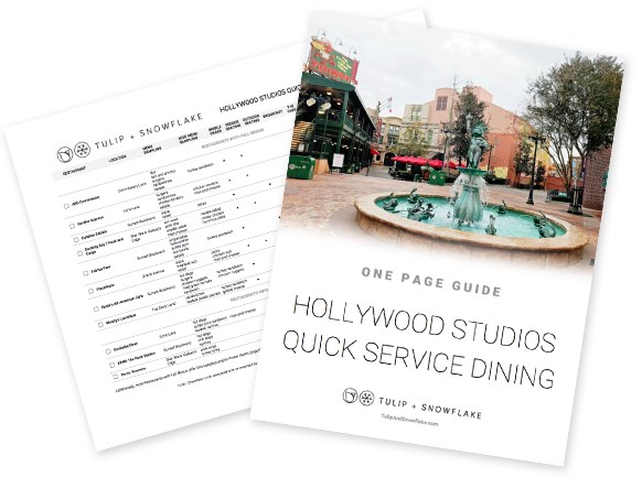 Disney World Hollywood Studios quick service restaurants guide
