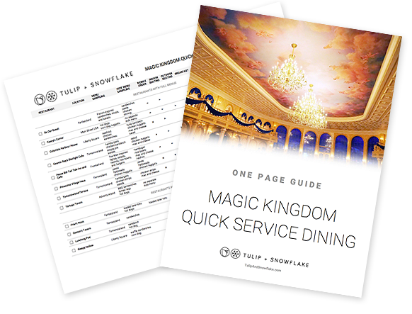 Disney World Magic Kingdom quick service restaurants guide