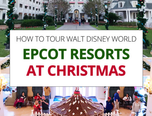 How to Tour Epcot Resorts at Christmas