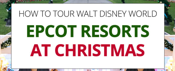 Disney World Epcot Boardwalk Resorts at Christmas