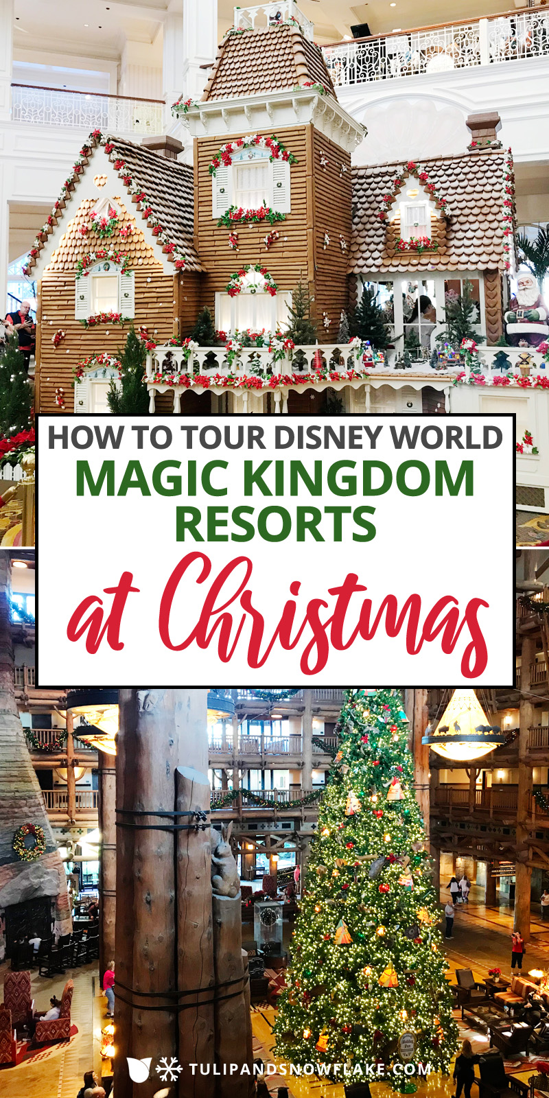 Magic Kingdom Resorts at Christmas