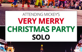 Attending Mickey's Very Merry Christmas Party solo