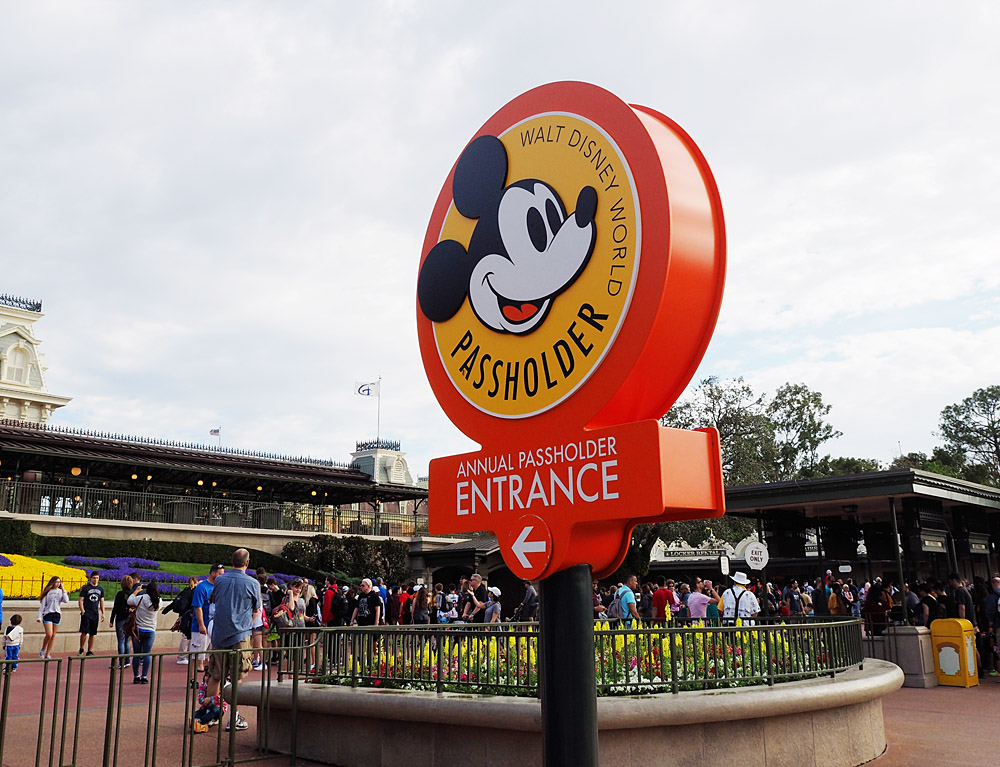 Disney Magic Kingdom Passholder entrance