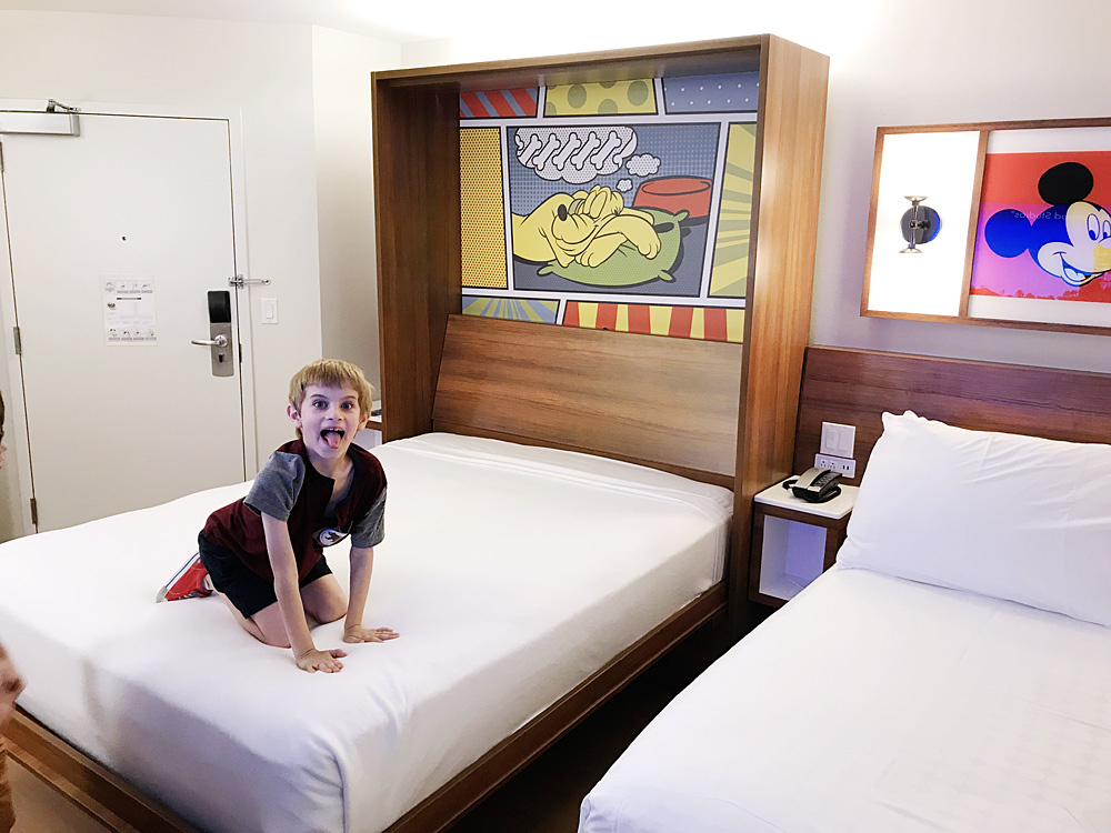 Disney's Pop Century Resort refurbished room