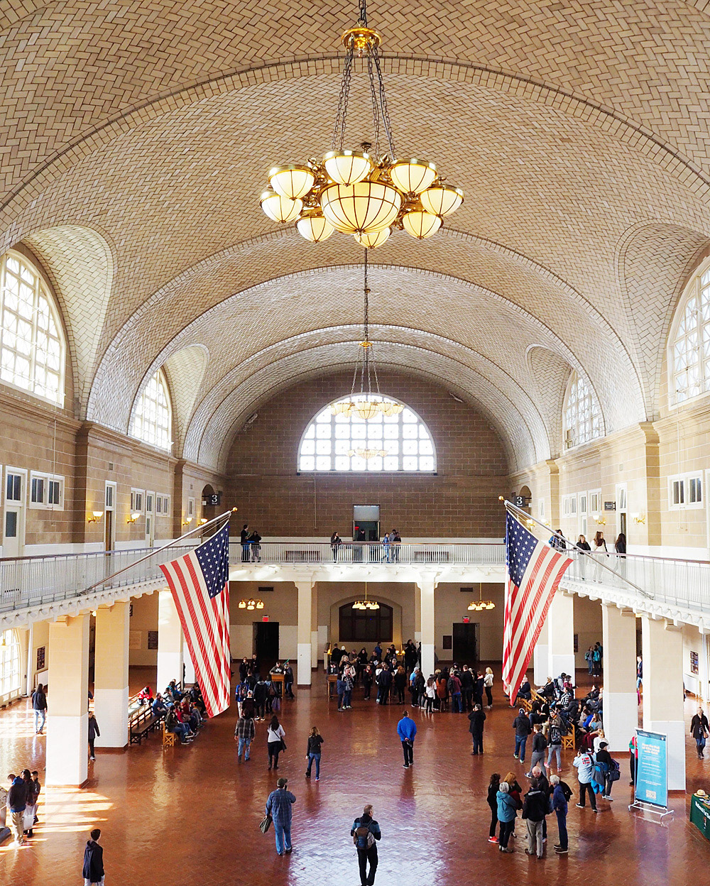 Ellis Island Immigration Museum Great Hall Registry Room