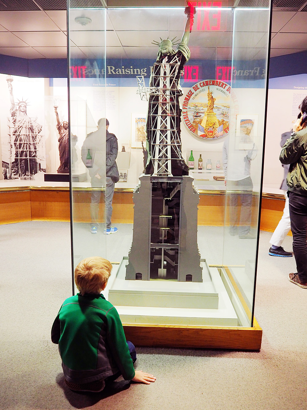 Statue of Liberty museum with kids