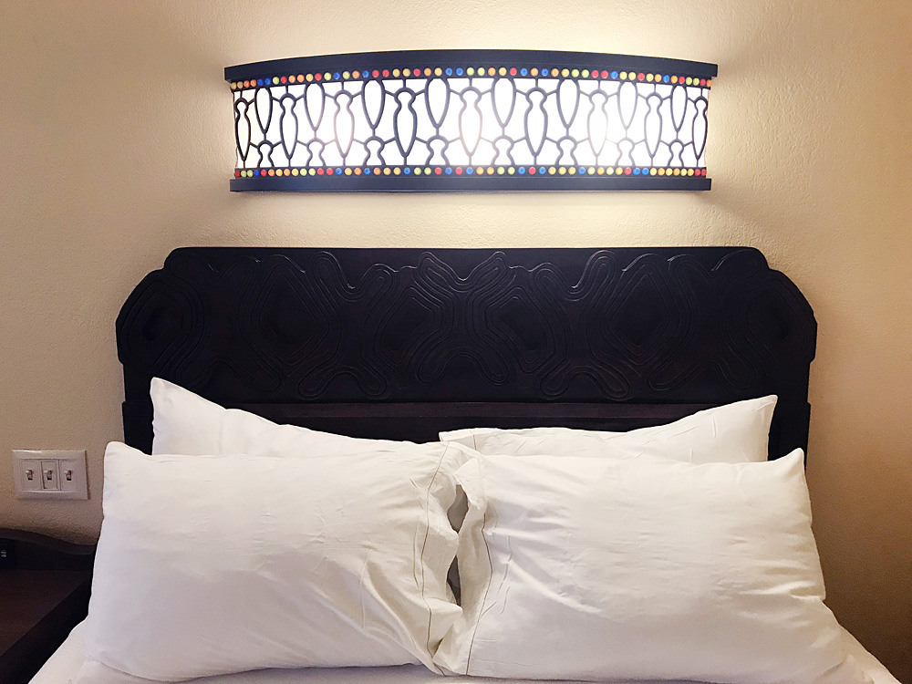 Disney Caribbean Beach resort bed