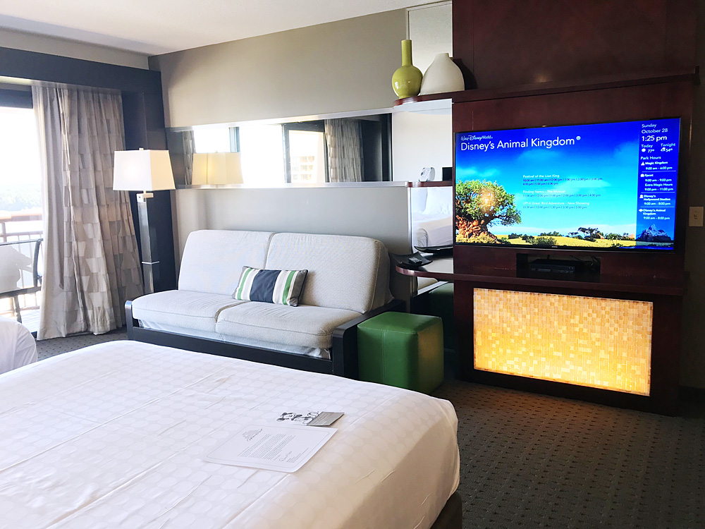 Disney Contemporary hotel room