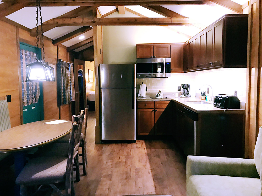 Fort Wilderness cabin kitchen