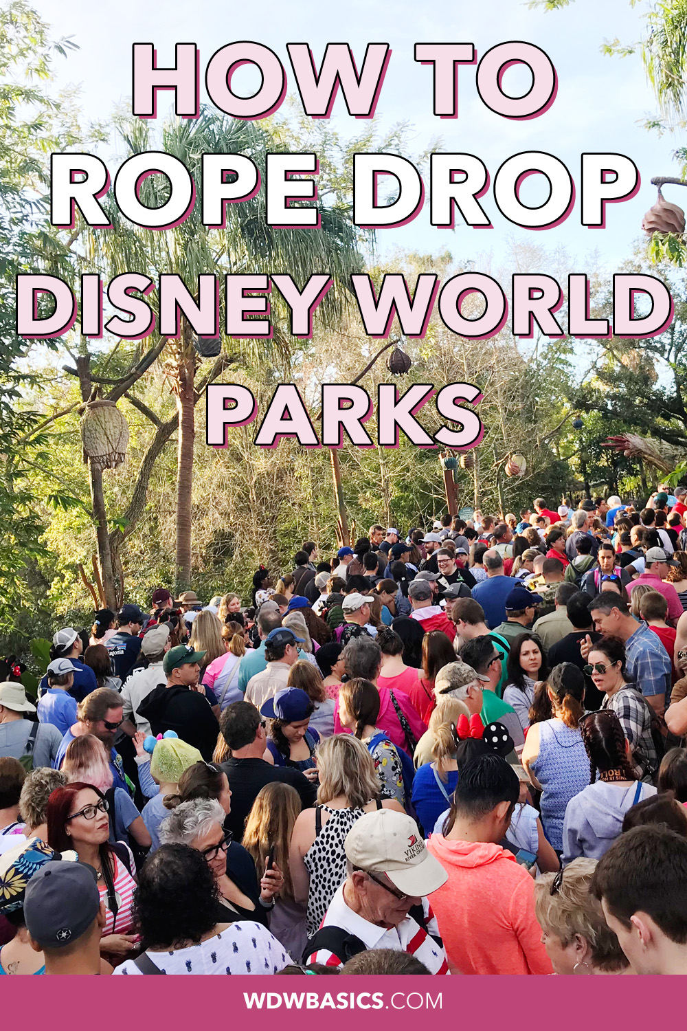 How to rope drop Disney World parks