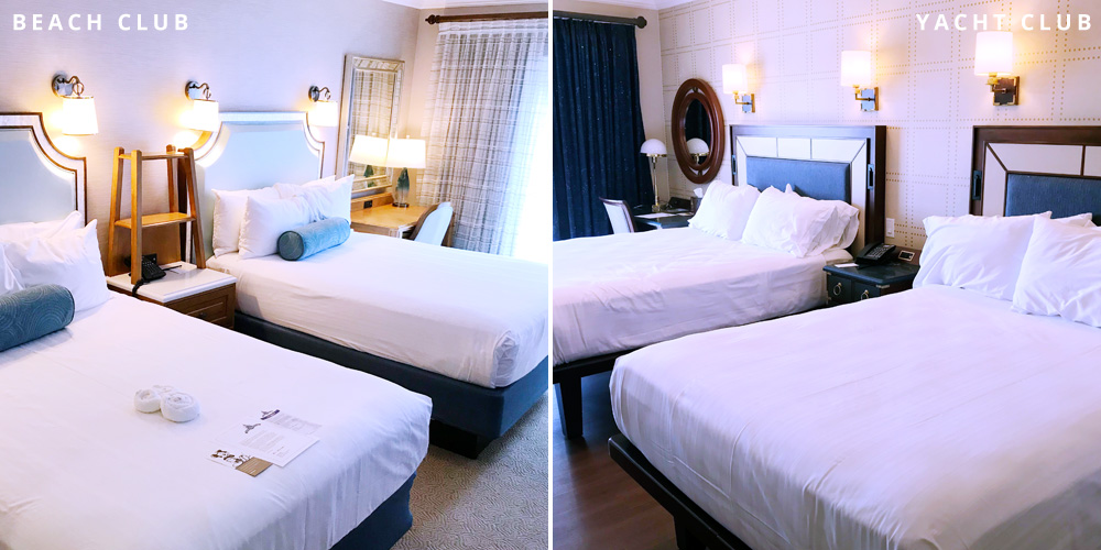 Beach Club vs Yacht Club bedrooms