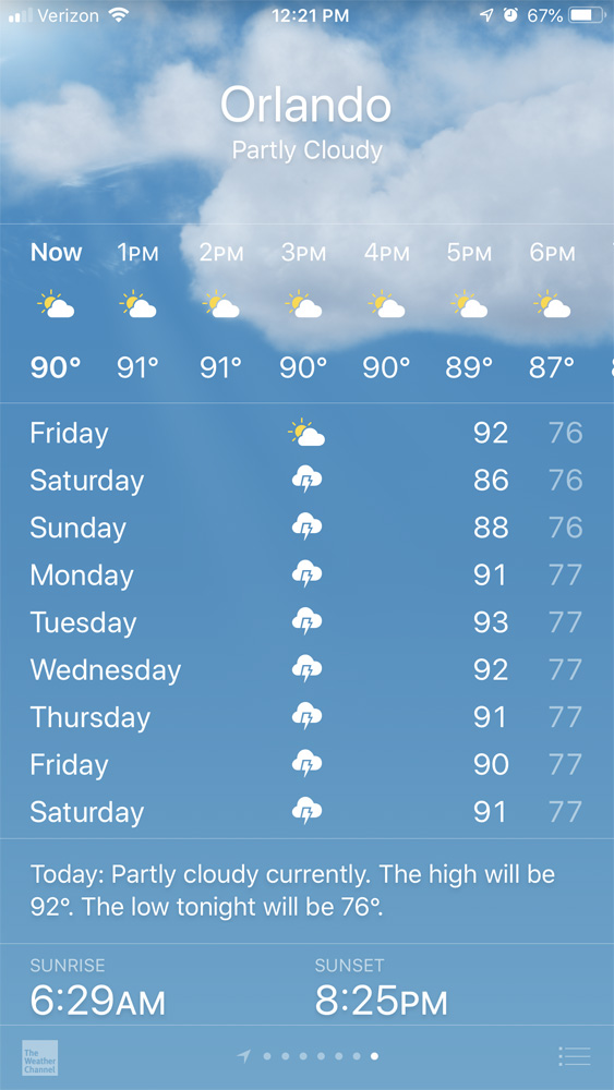 Orlando weather forecast