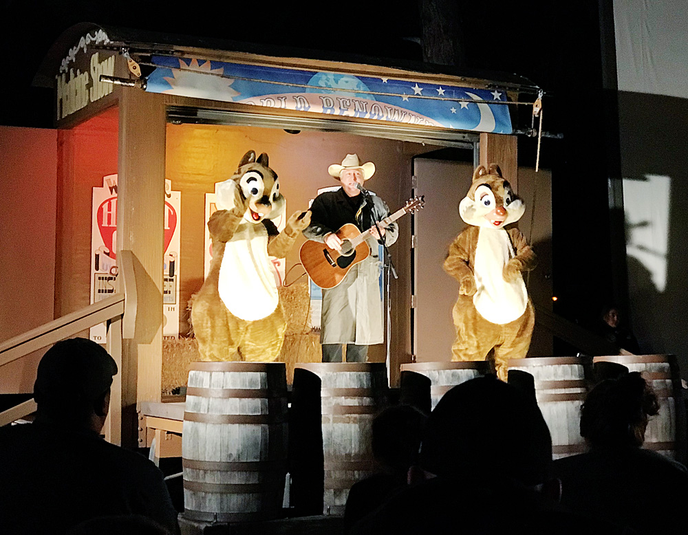 Disney's Fort Wilderness Chip n Dale Campfire Sing-a-long