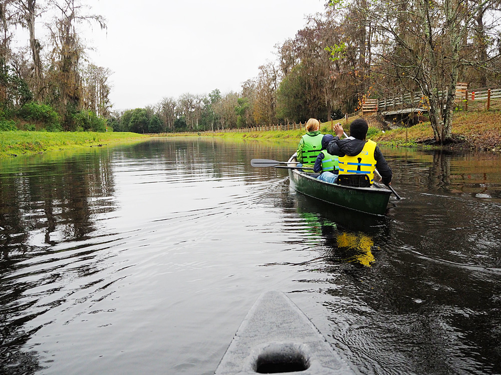 Disney's Fort Wilderness kayaking