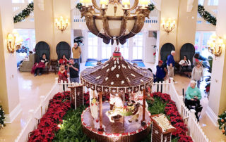 Disney World Epcot resorts at Christmas