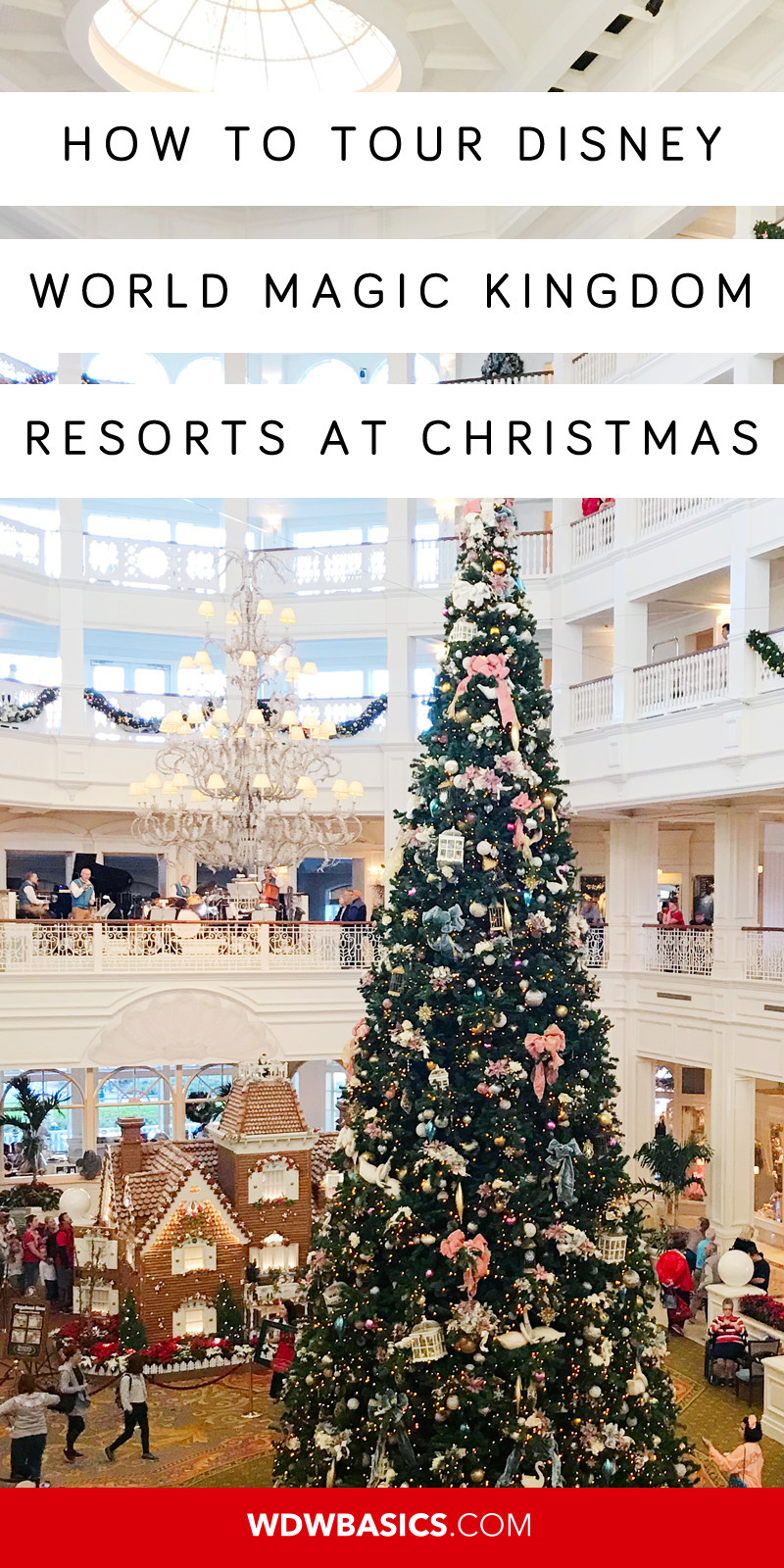 Disney World Magic Kingdom resorts at Christmas