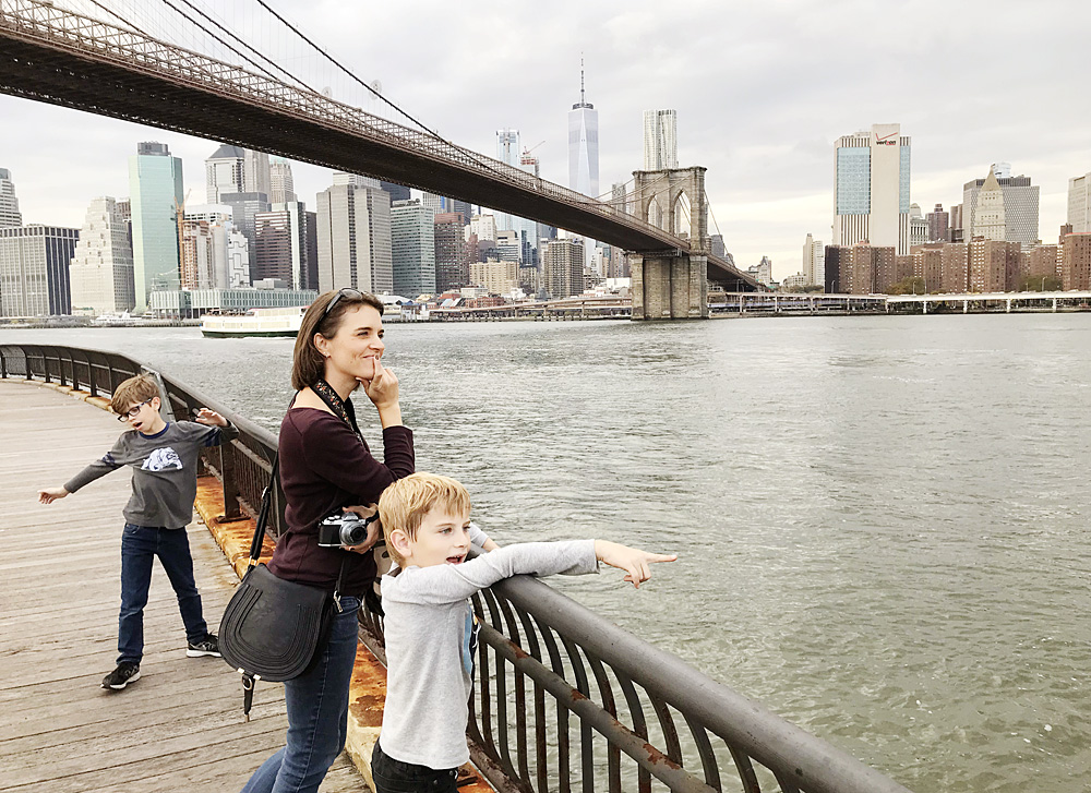 Brooklyn Bridge with kids