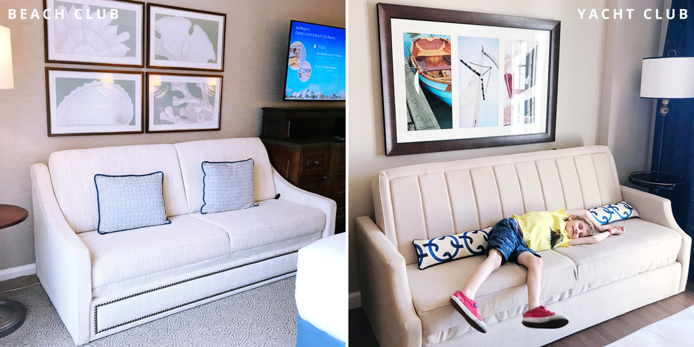 Disney's Beach and Yacht Club daybed
