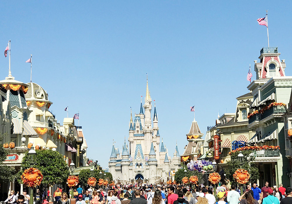 Disney World during Halloween