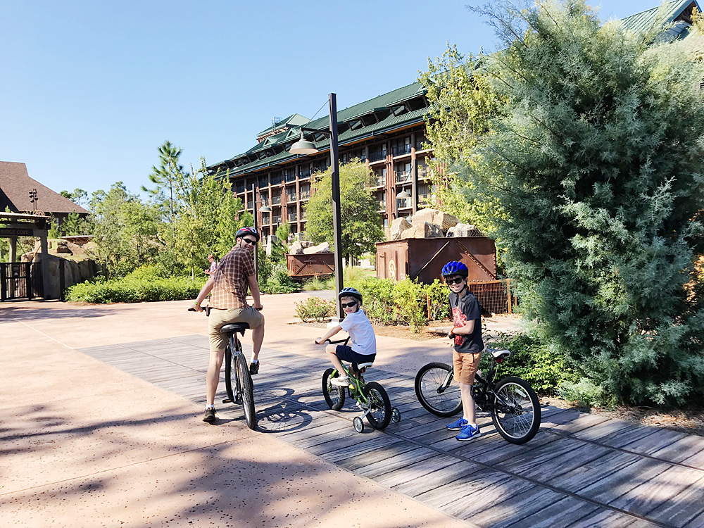 Bike rentals at Disney World