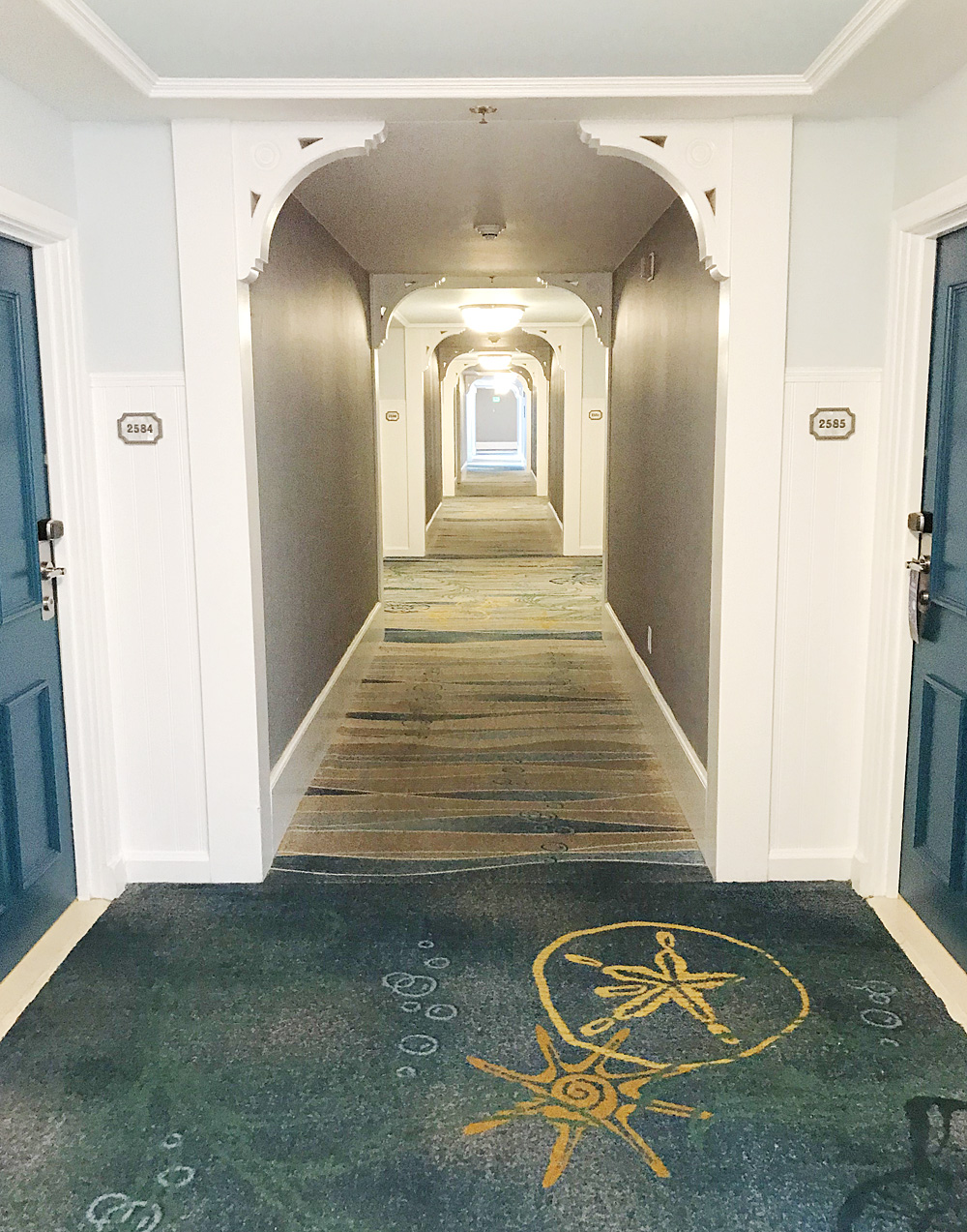Disney Beach Club hallway