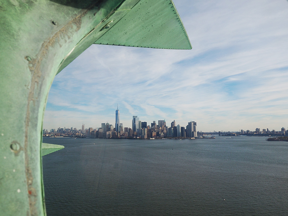 Statue of Liberty crown view