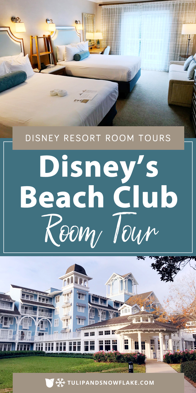 Disney's Beach Club Resort room tour
