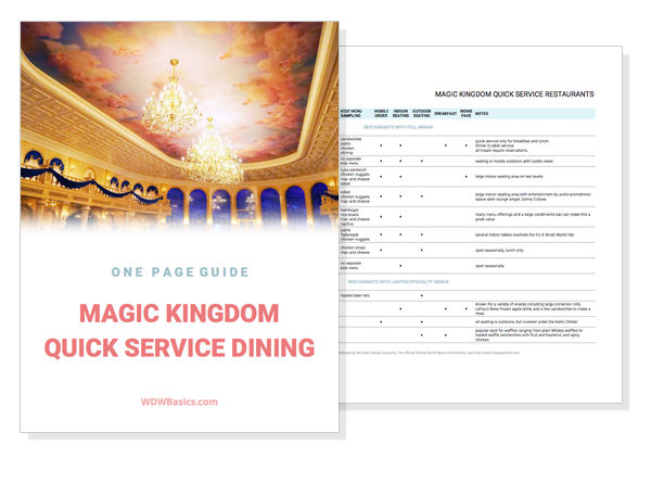 Magic Kingdom restaurants