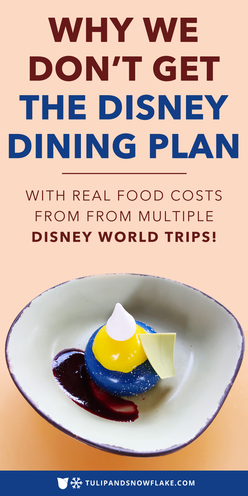 Why we don't get the Disney Dining Plan
