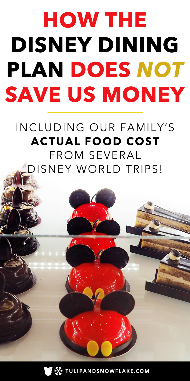 How the Disney Dining Plan does not save us money
