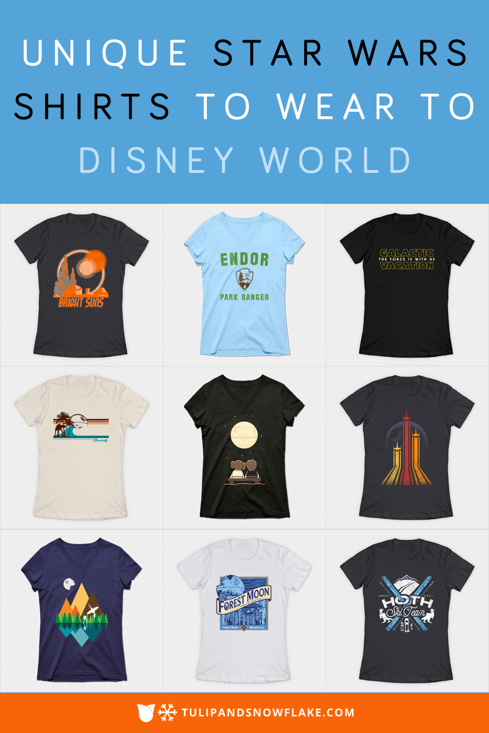 Unique Star Wars Shirts to wear to Disney World