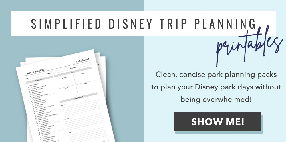 Disney World Planning Printables